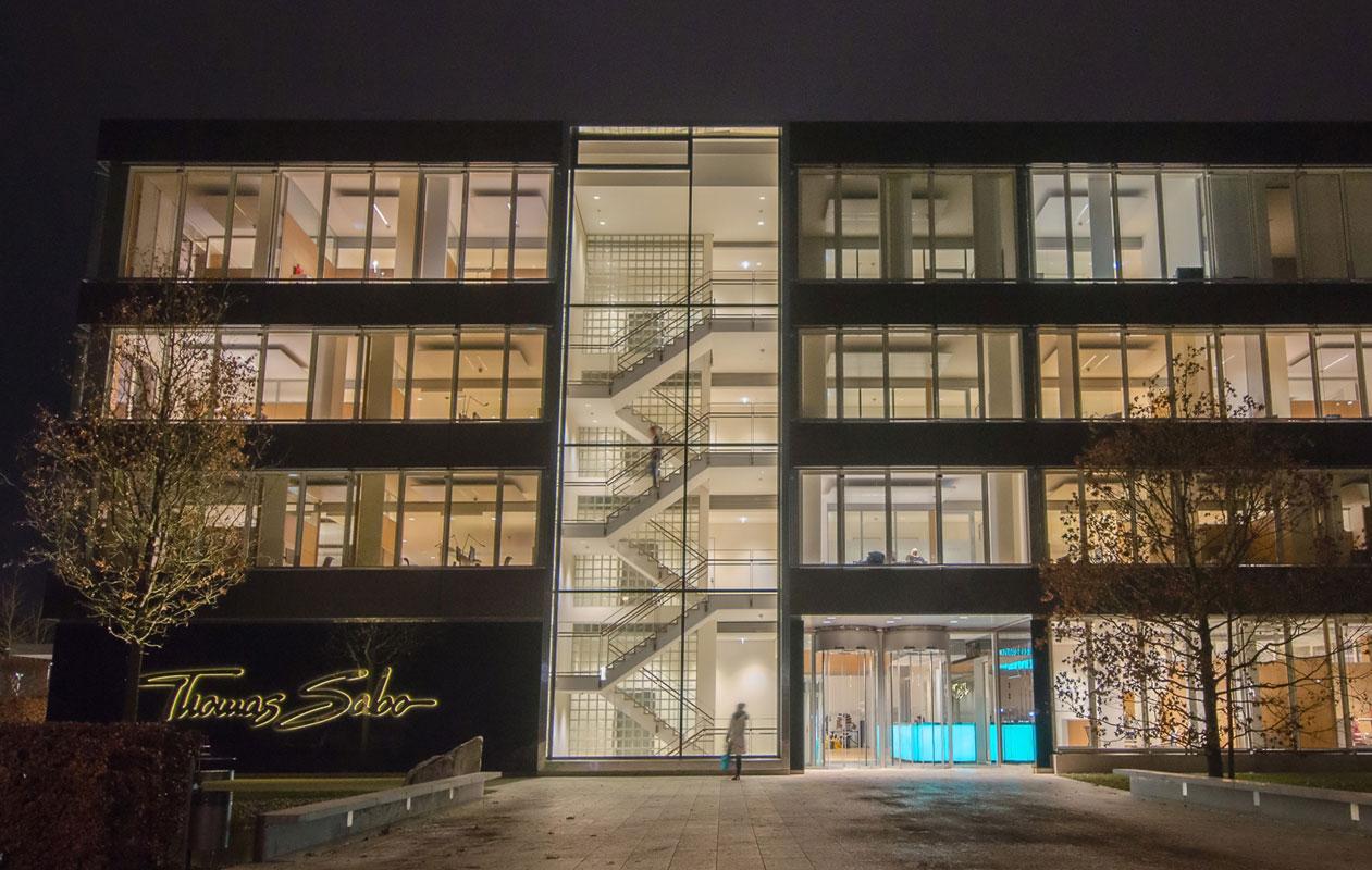 Die Firmenzentrale von Thomas Sabo in Lauf. Foto: axis, Thomas Kehrberger