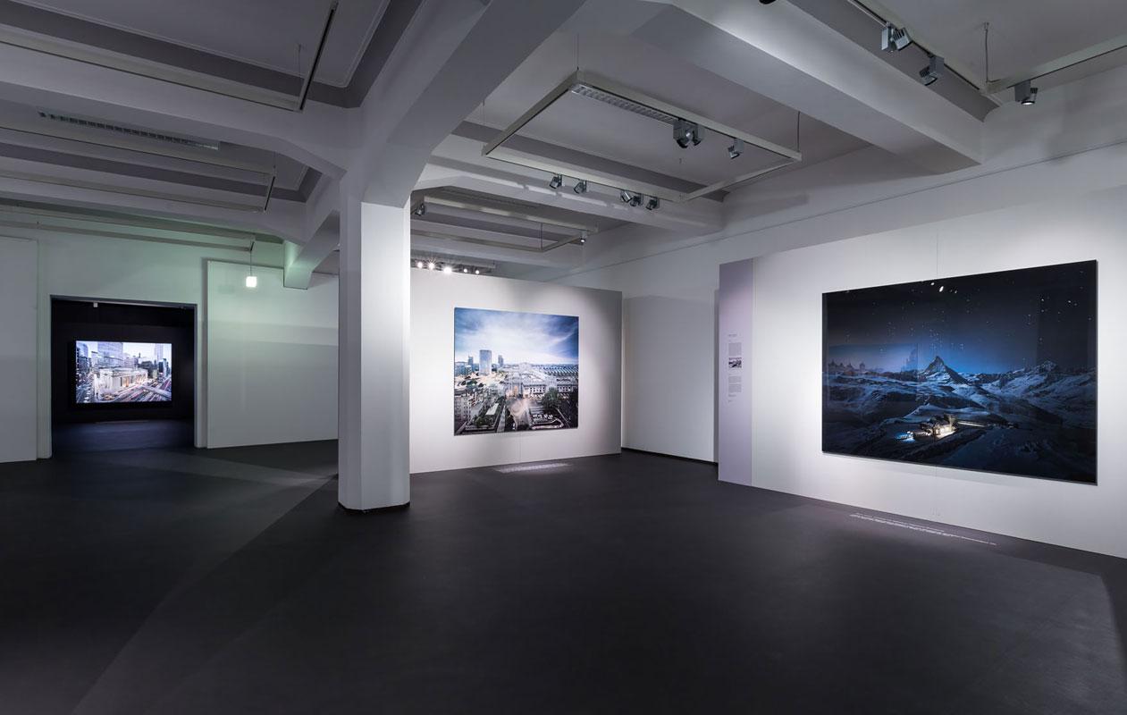 Großformatige Leuchtkästen zur Präsentation von Fotomotiven als Leuchttransparente mit neutralweißen LEDs
