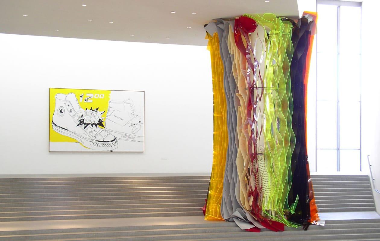"""""""Reise nach Jerusalem"""" von Professor Olaf Metzel in der Pinakothek der Moderne, München. Foto: axis"""