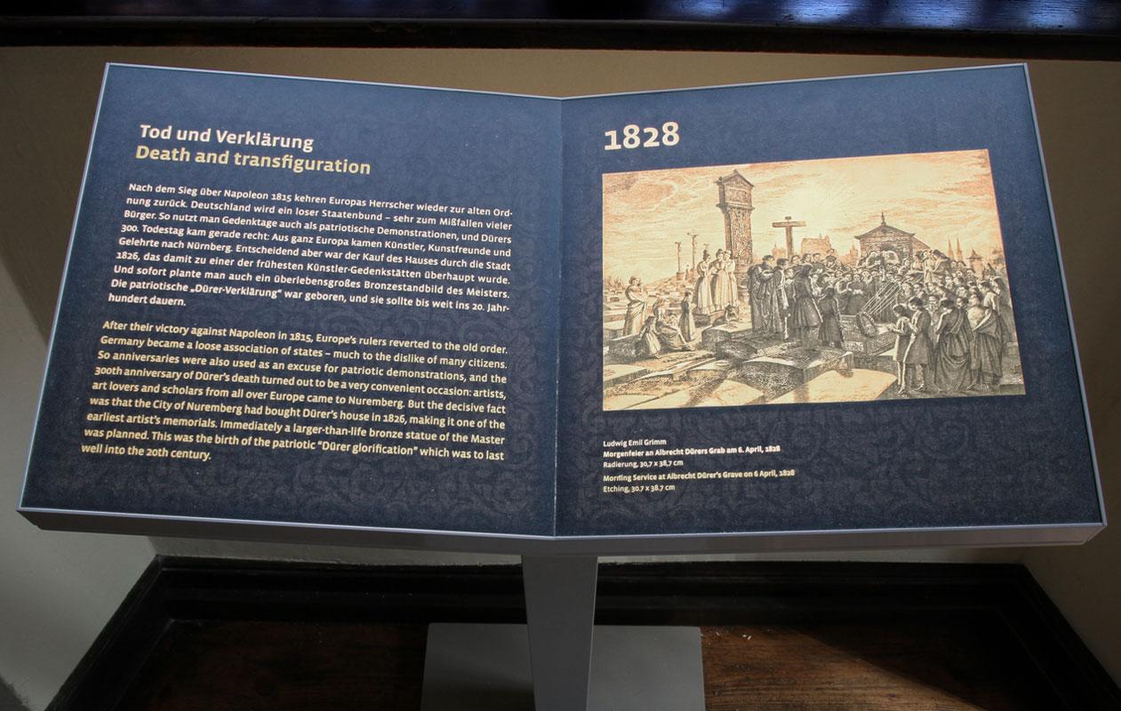 Infotafeln für Museen als Spezialanfertigung mit hochwertigster LED-Lichttechnik plus Druck, hergestellt von axis in Nürnberg.