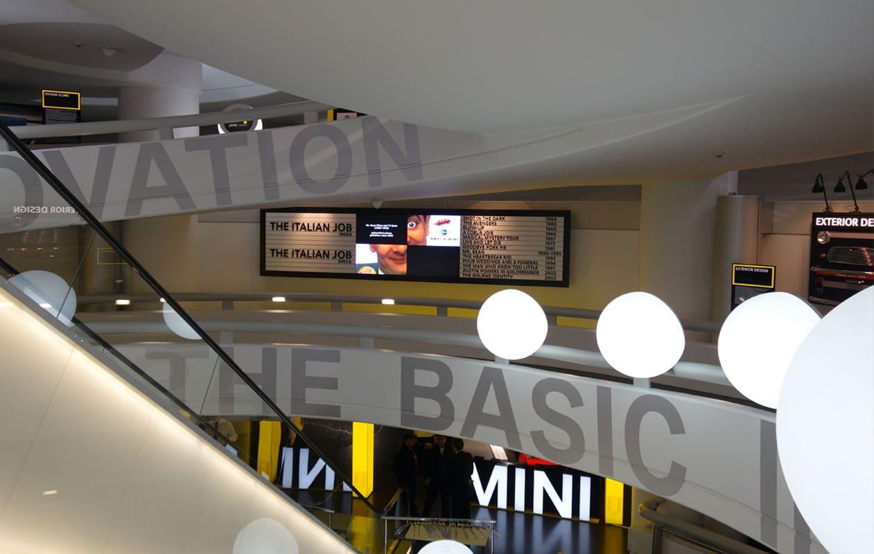 Mini-Ausstellung im BMW-Museum München.