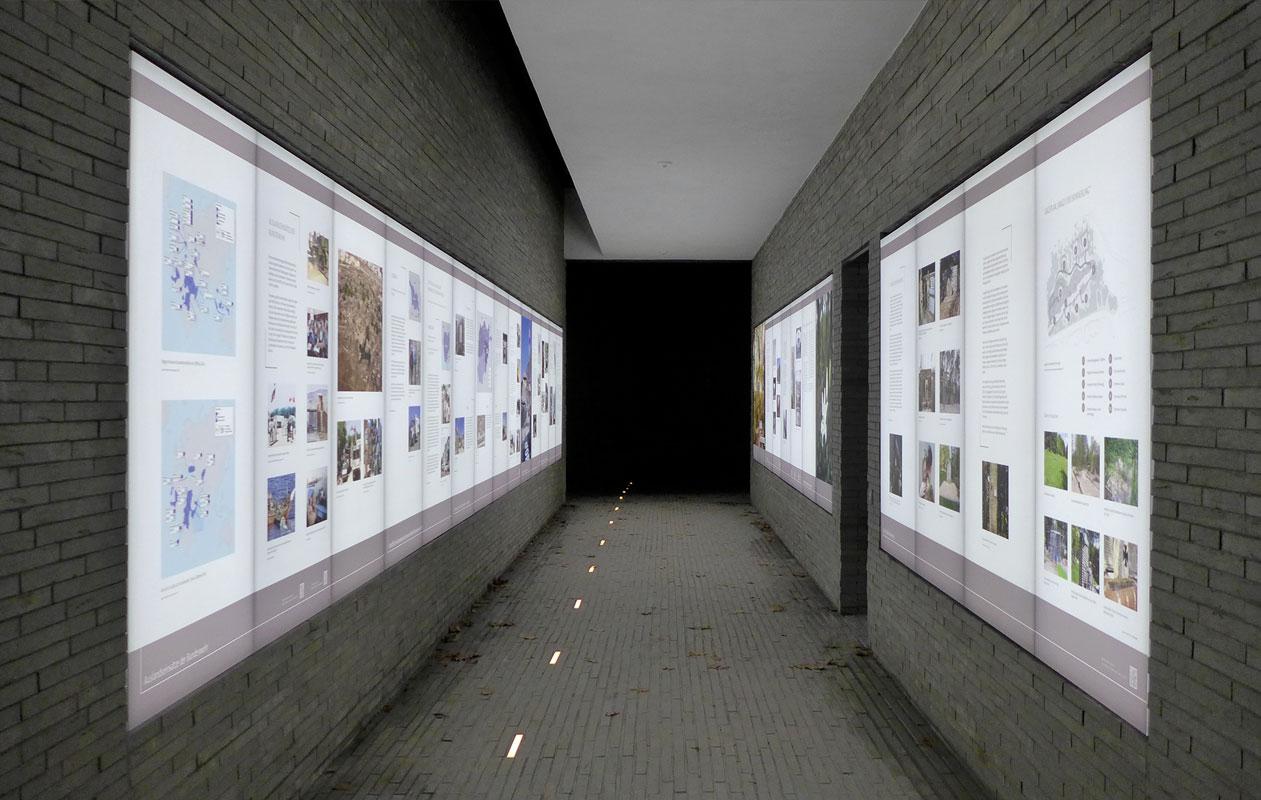 Ausreichende Lichtintensität wird durch zweiseitige Kanteneinspeiung erreicht. Foto: kreativköpfe, Raum- & Ausstellungsgestaltung
