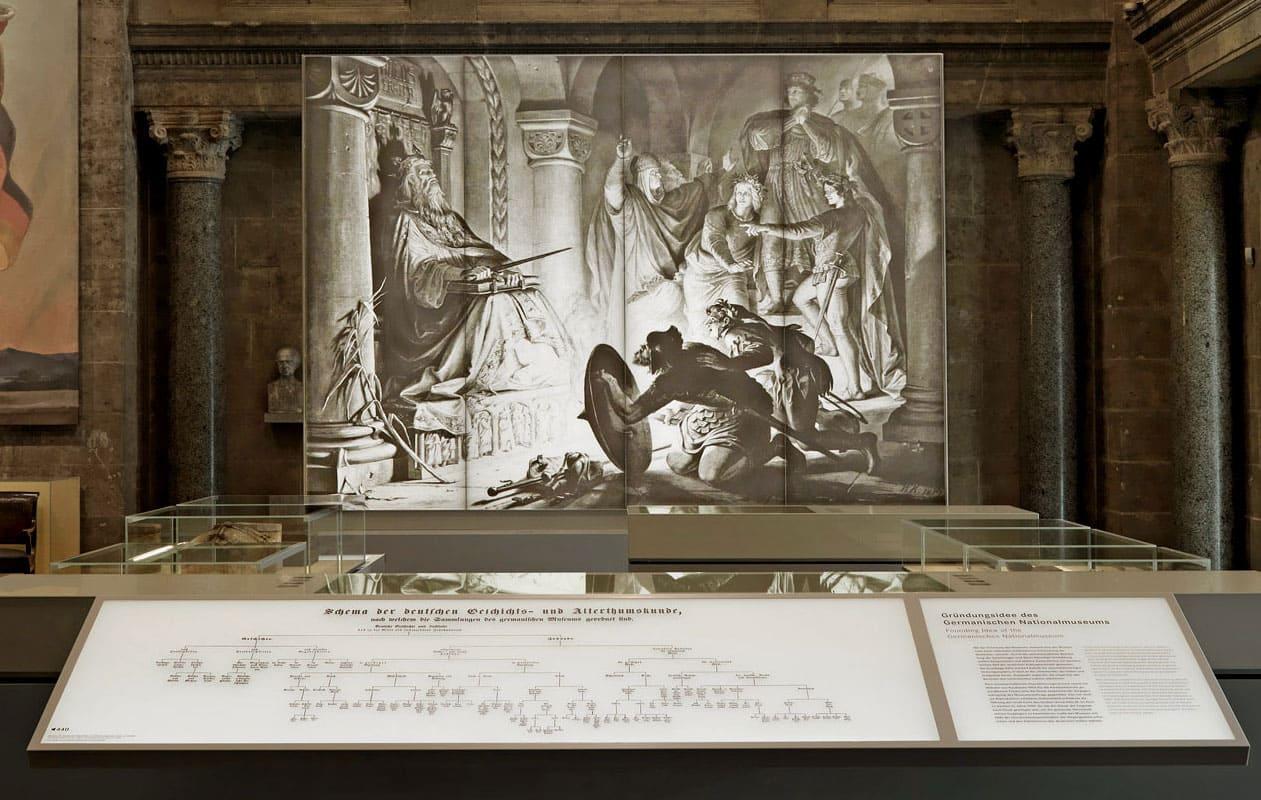 Hinterleuchtung eines heute zerstörten Gemäldes durch Lichtpanel frameless im Germanischen Nationalmuseum Nürnberg. Foto: GNM, Georg Janßen